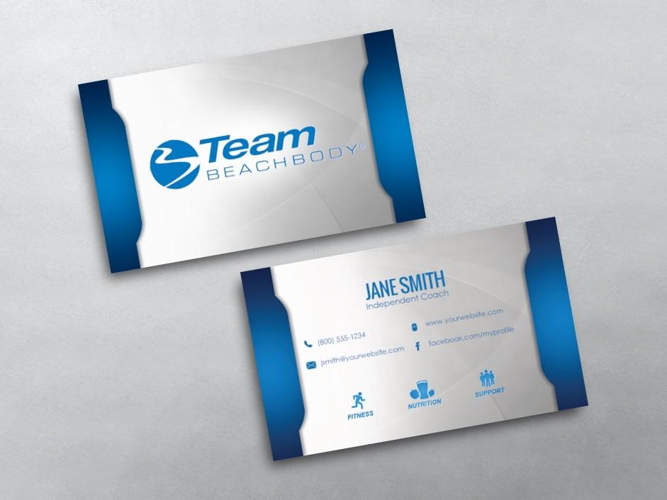 Beachbody Business Cards