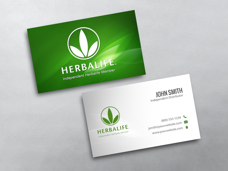 Herbalife business cards free shipping for Herbalife templates