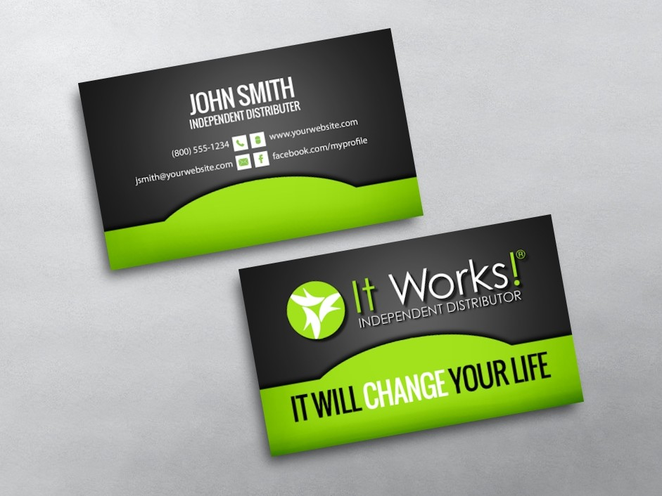 It Works Business Cards : Free Shipping
