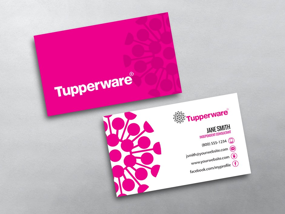 Tupperware business cards free shipping for Tupperware business card templates