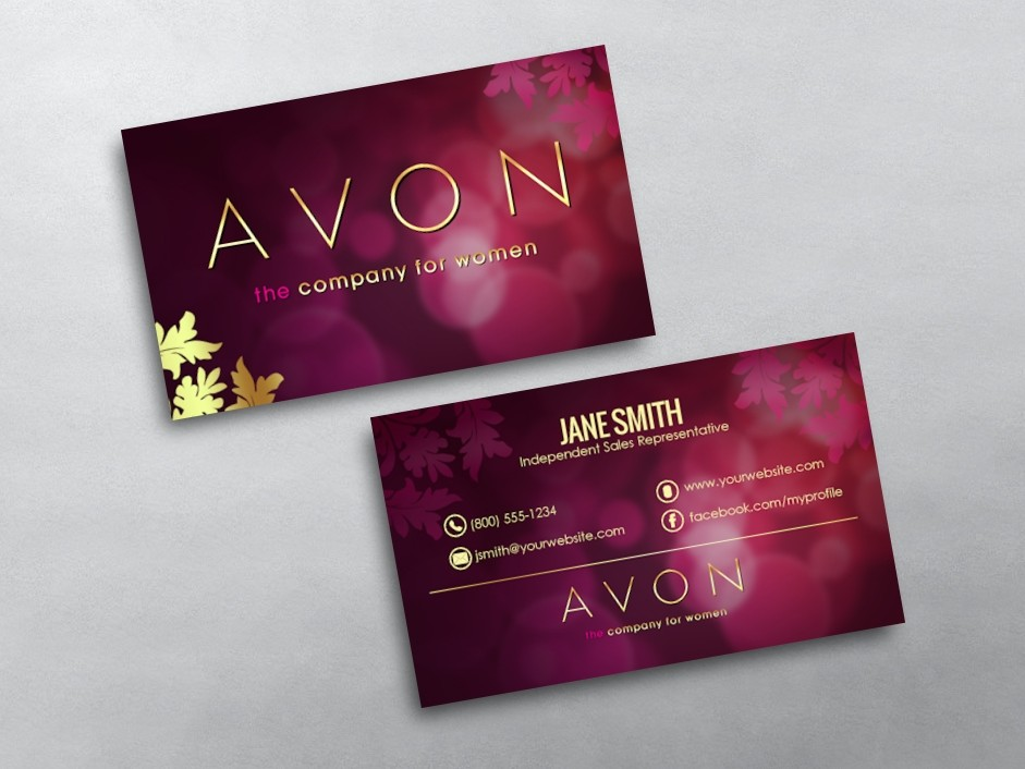 Avon Business Cards : Free Shipping