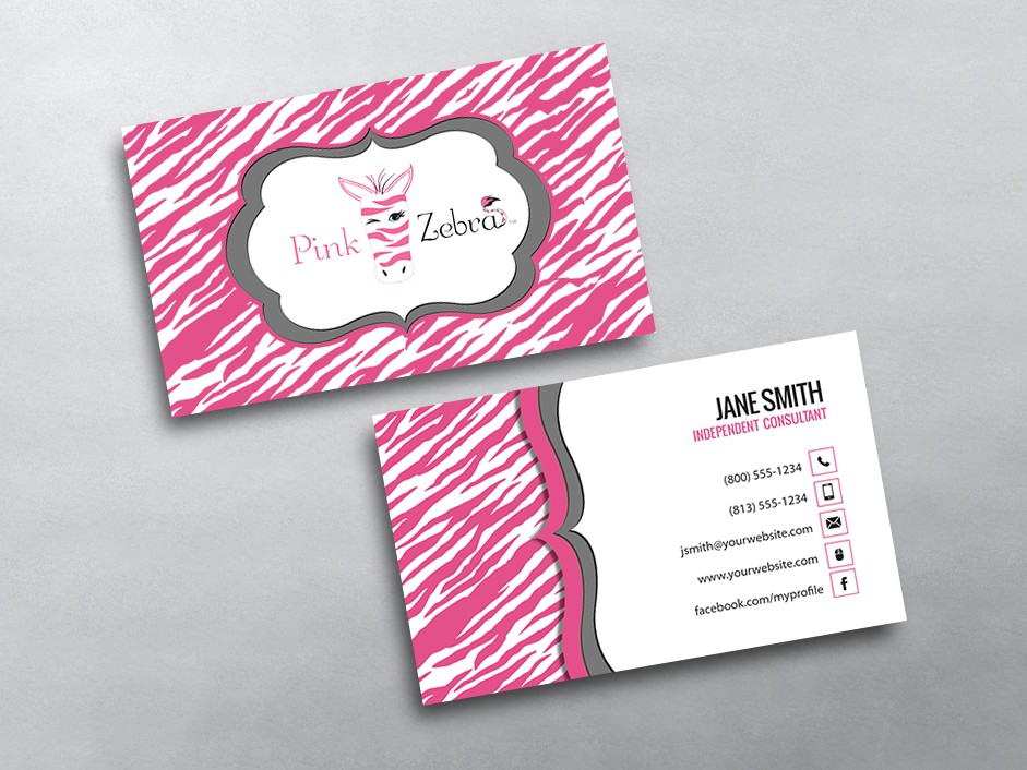 zebra business card background template by pink zebra business cards free shipping - Free Business Cards Free Shipping