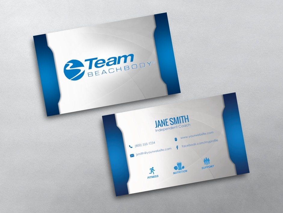 Beachbody Business Cards