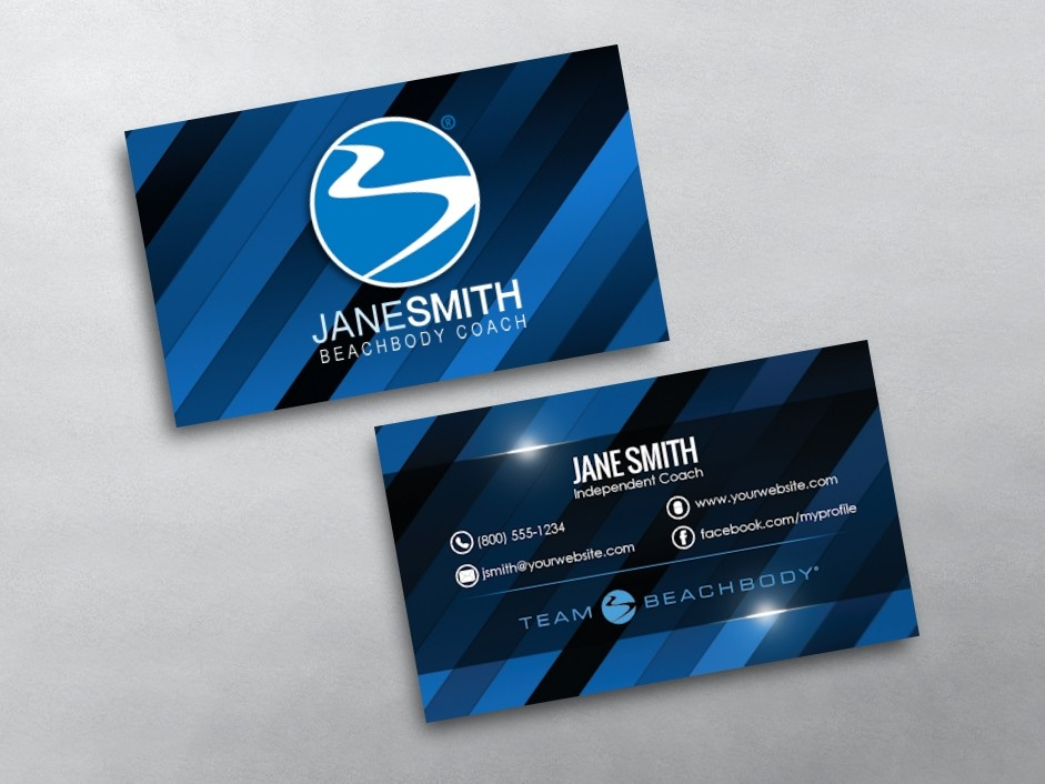 beachbody business cards free shipping