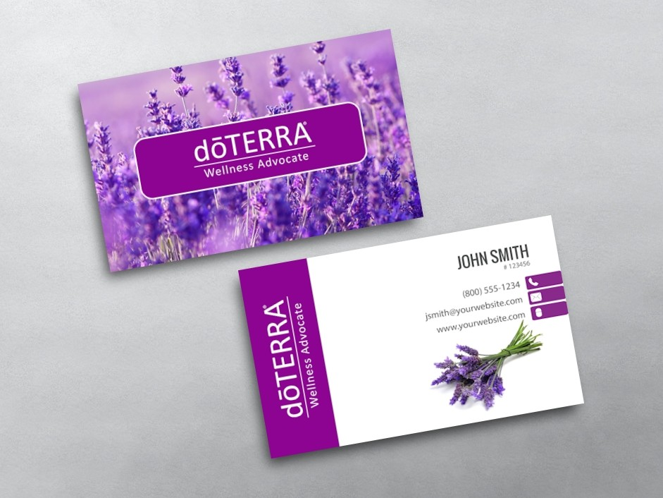 Doterra business cards for Doterra business card template