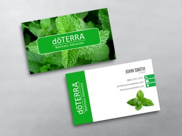 Doterra business cards free shipping doterra business card 07 flashek Image collections