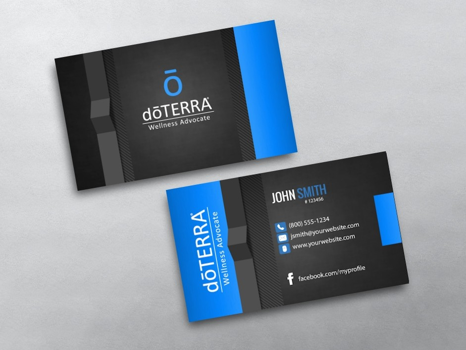 Doterra business card template car interior design for Doterra business card template