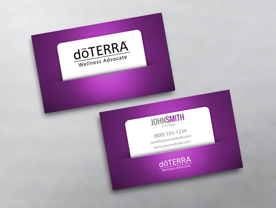 doterra business card template bing images