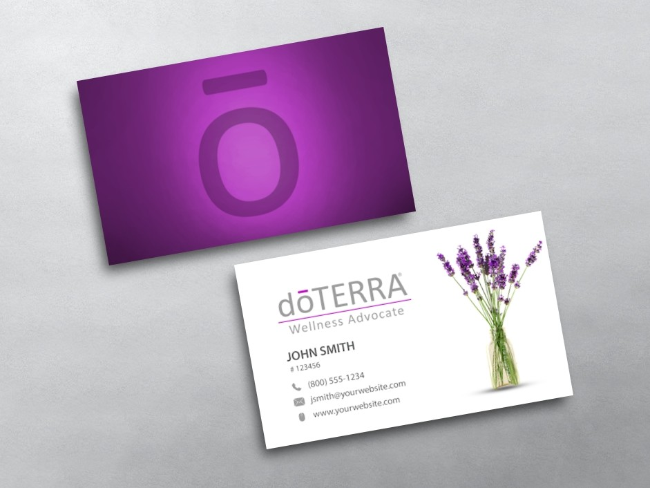 Doterra Business Card Template Mandegarinfo - Doterra business card template