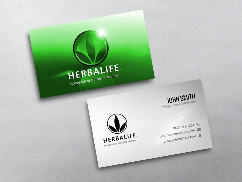 Pics s Herbalife Business Cards Card