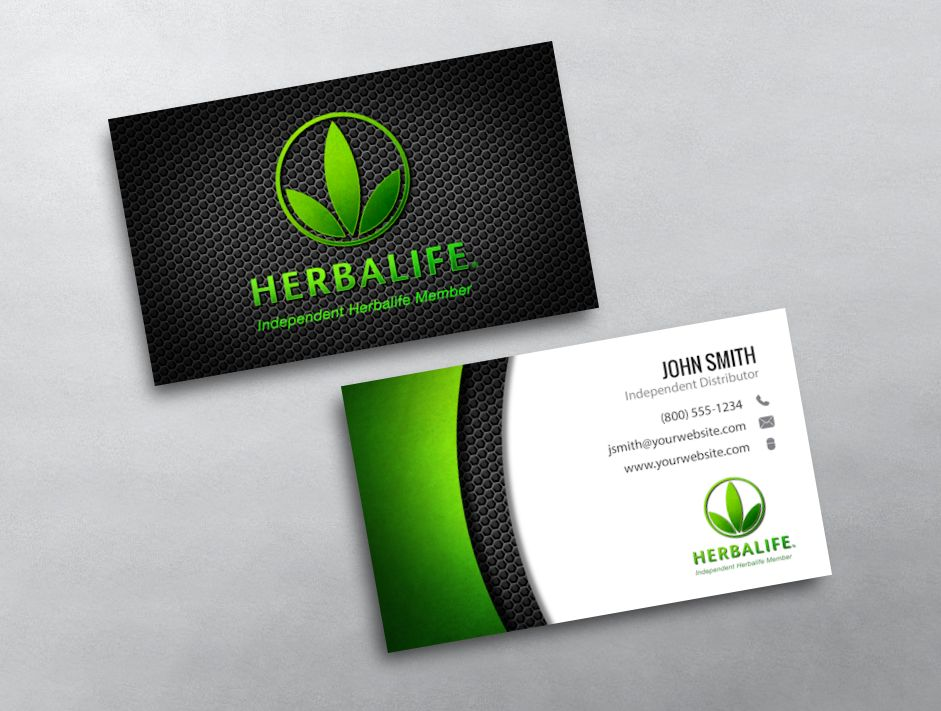 herbalife business card template