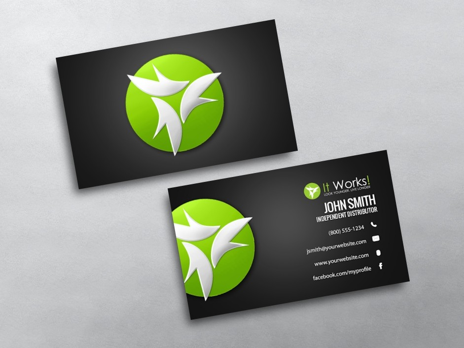 It Works Business Cards   Free Shipping