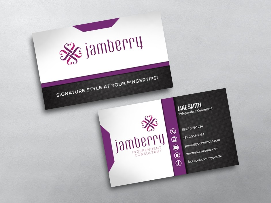 Jamberry business cards free shipping for Jamberry sample card template