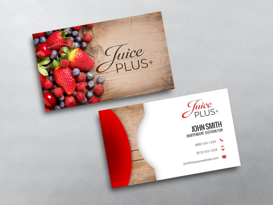 Juice plus business cards free shipping for Business card designer plus