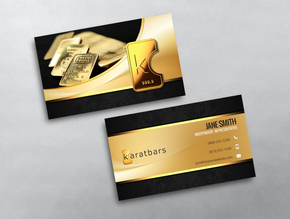 KaratBars Business Cards | Free Shipping