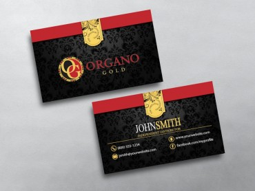 Organo gold business cards free shipping organo gold business card 03 colourmoves