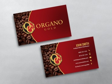 Organo gold business cards free shipping organo gold business card 06 reheart Image collections