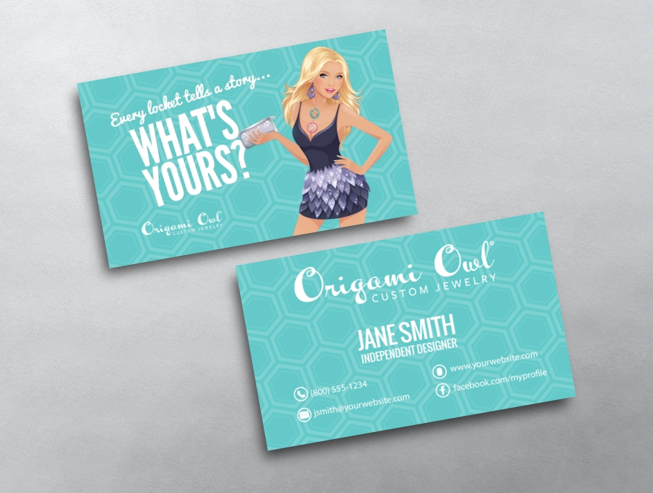 Origami owl business card 12 for Owl business cards