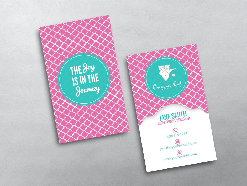 Origami owl business card 13 for Owl business cards