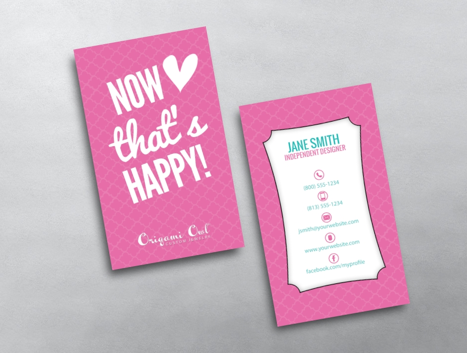 Origami owl business card 16 for Owl business cards