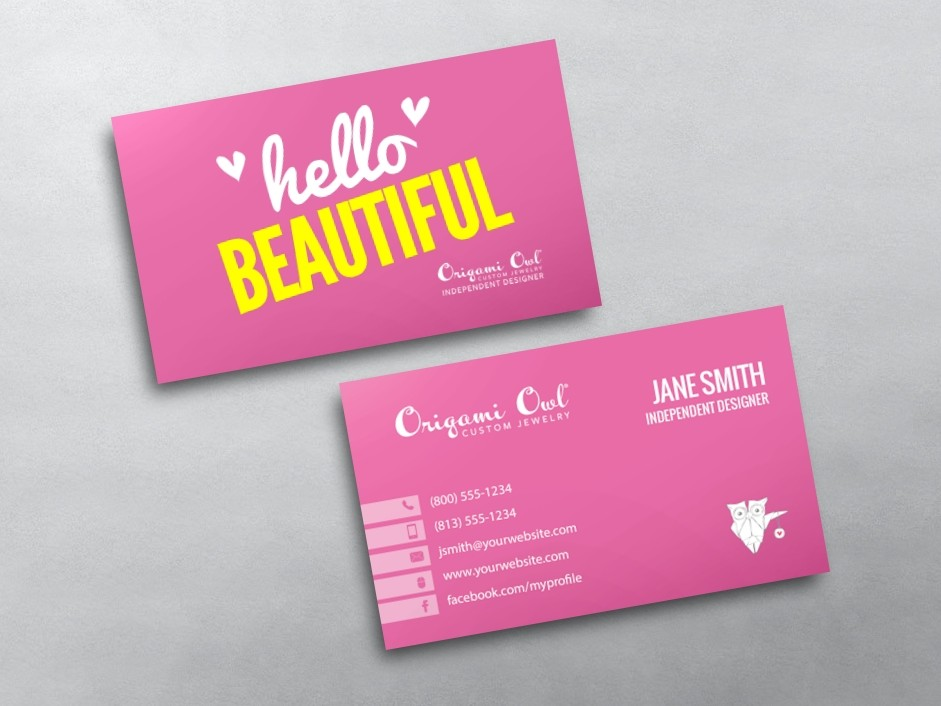 Origami owl business cards free shipping for Owl business cards