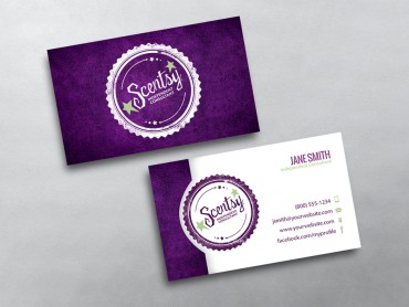 Scentsy business cards free shipping scentsy business card 12 wajeb Image collections