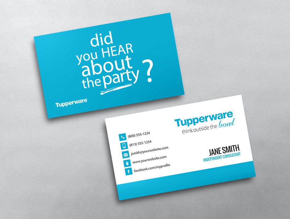 Tupperware business cards free shipping tupperware business card 02 reheart Choice Image