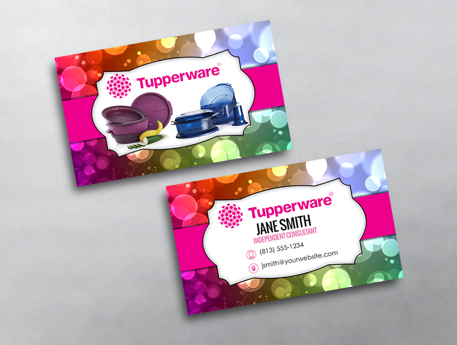 Tupperware business card 03 for Tupperware business card templates