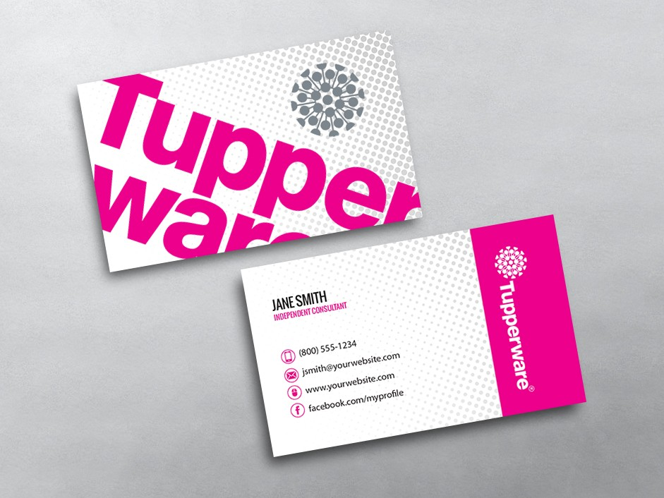 Tupperware Business Card 04
