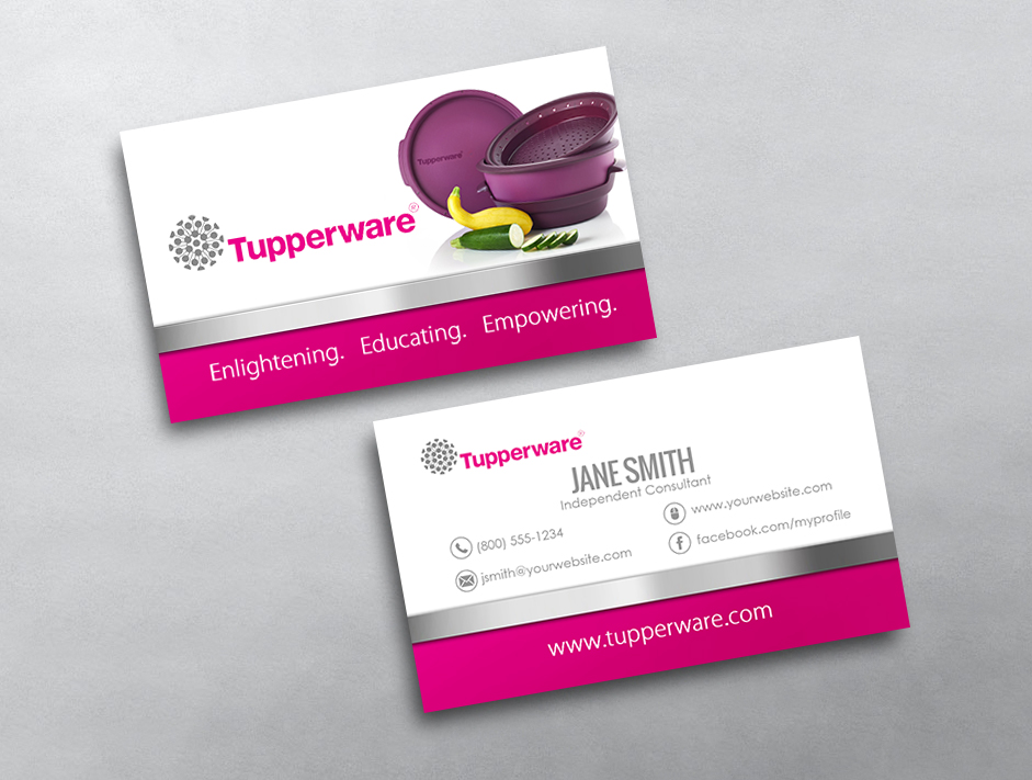 Tupperware business cards free shipping tupperware business card 06 colourmoves Image collections