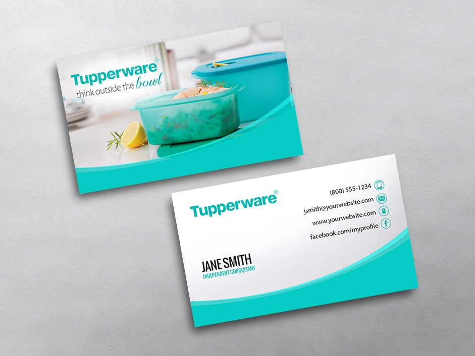 Tupperware Business Cards Free Shipping