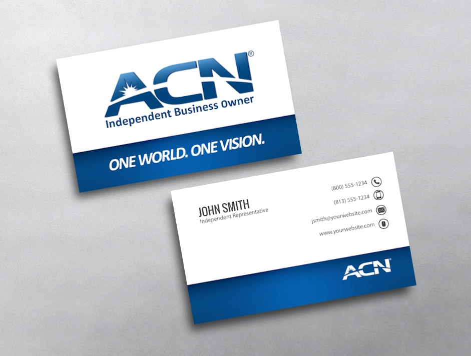 Acn independent business owner card templates free shipping category acn business cards free reheart Choice Image