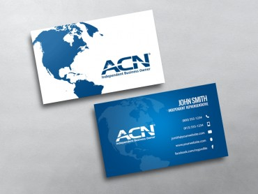 Blue acn ibo business cards design online free proofs acn business card 06 colourmoves