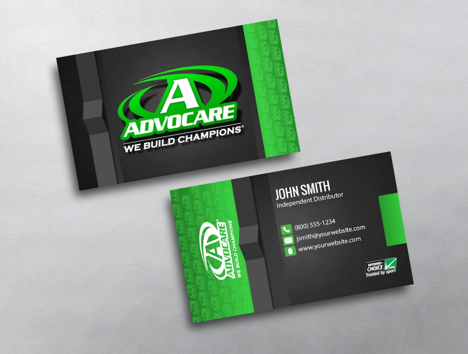 Category Advocare Business Cards Free Template 02