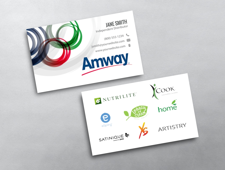Amway business cards free shipping amway business card 02 colourmoves