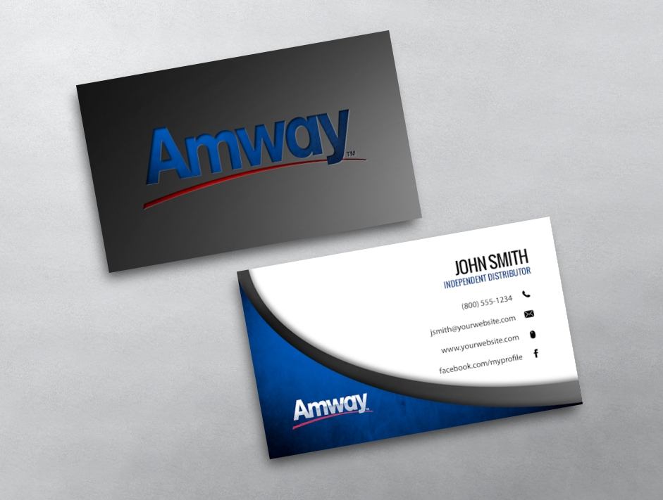 Amway business cards free shipping amway business card 10 reheart Choice Image