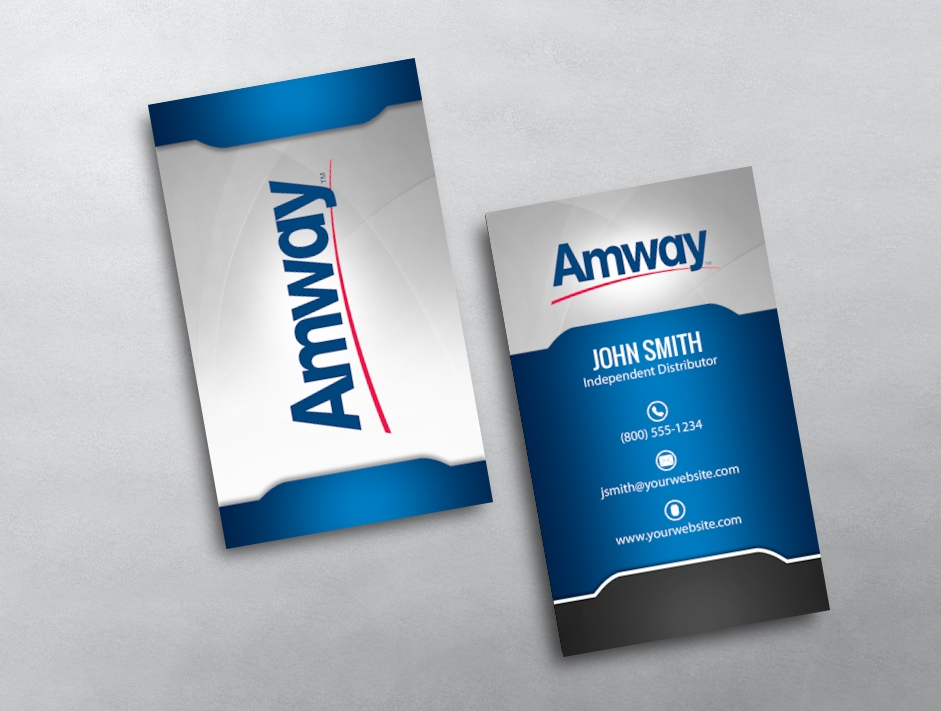 Amway business cards free shipping amway business card 14 flashek Choice Image