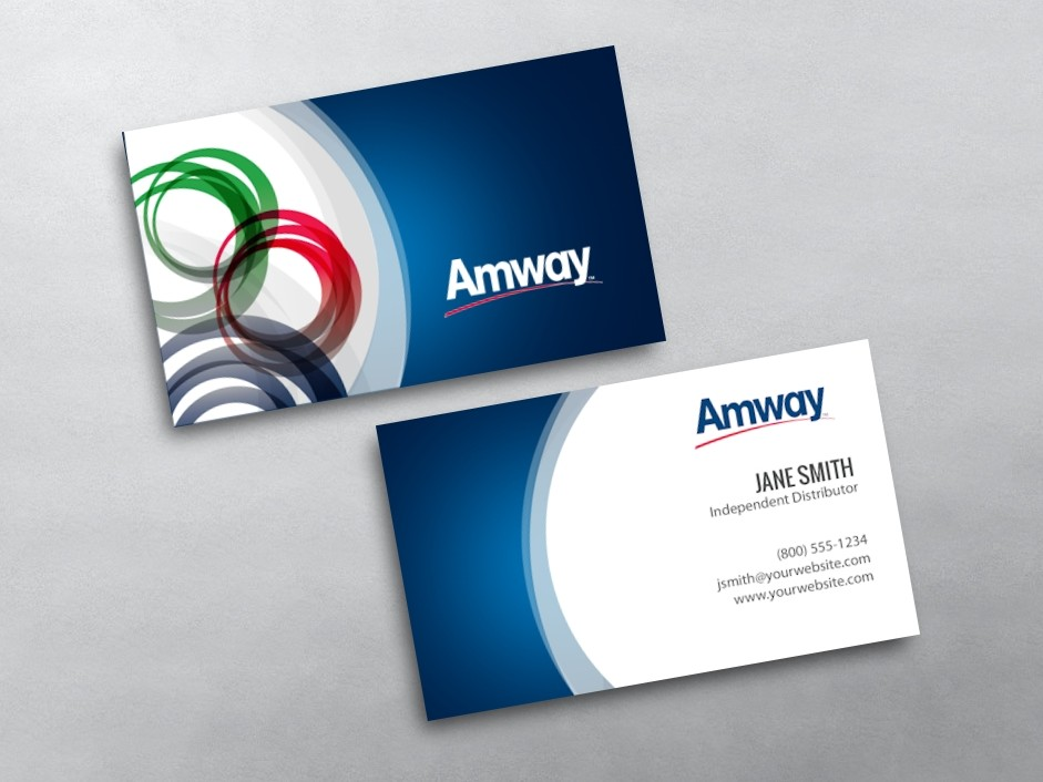 Amway Name Card Template Business Cards