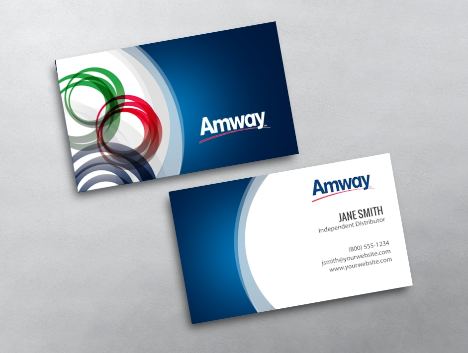 Amway business cards free shipping amway business card 20 flashek Choice Image