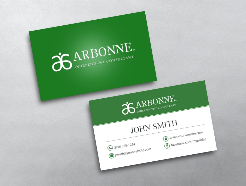 Arbonne business cards free shipping arbonne business card 01 reheart Images