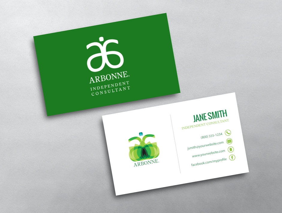 Arbonne Business Cards Free Shipping