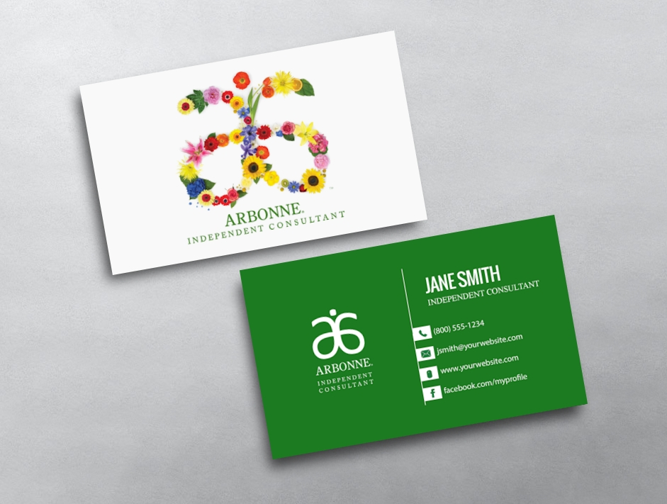Arbonne Business Cards Free Shipping - Business card template uk