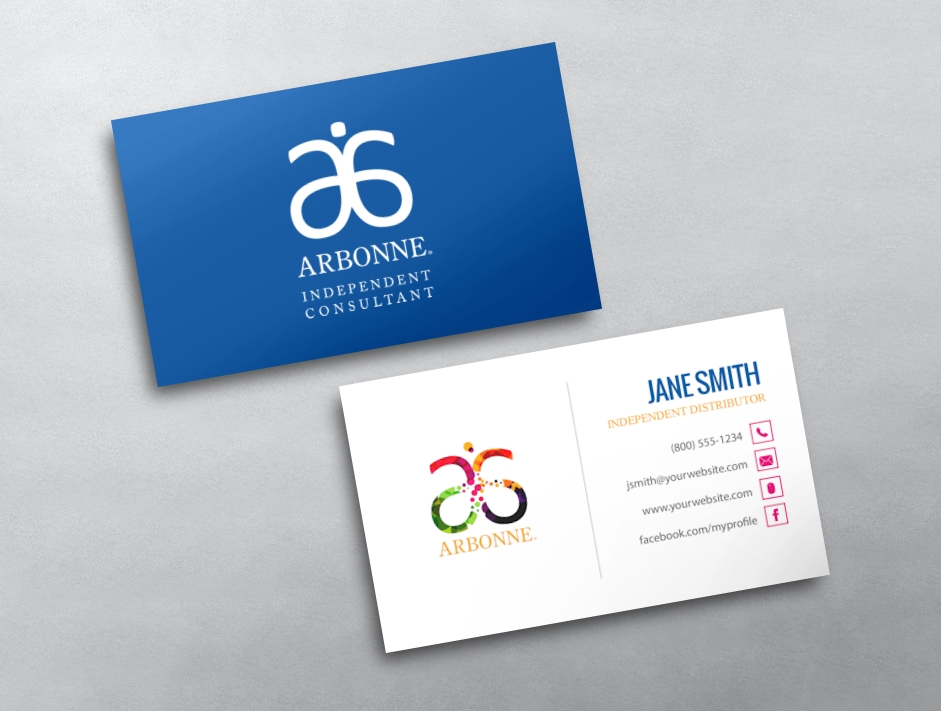 Arbonne business cards free shipping arbonne business card 10 reheart Choice Image