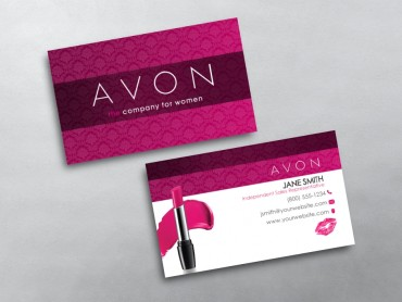 Avon business cards free shipping avon business card 01 reheart Choice Image