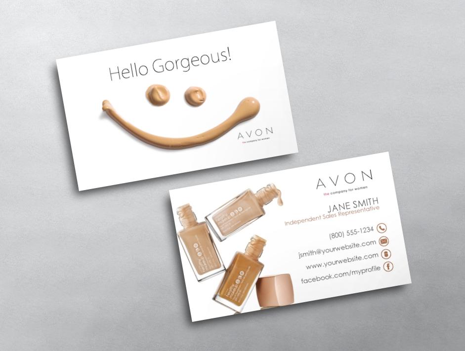 avon business card 02. Black Bedroom Furniture Sets. Home Design Ideas