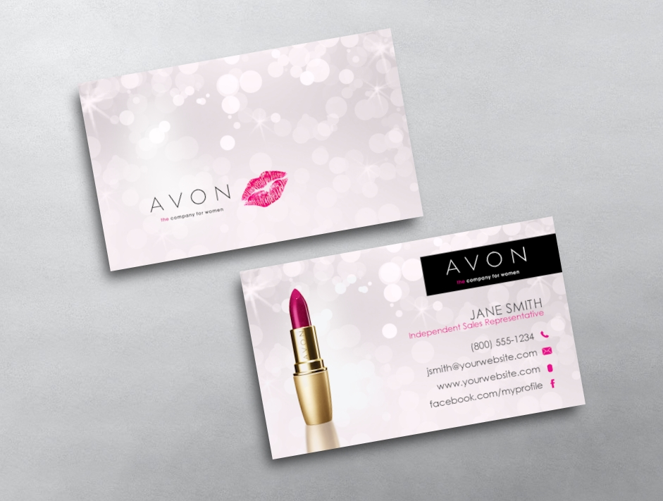 Avon business cards free shipping avon business card 03 wajeb Images
