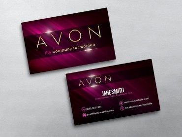 Avon business cards free shipping avon business card 06 reheart Choice Image