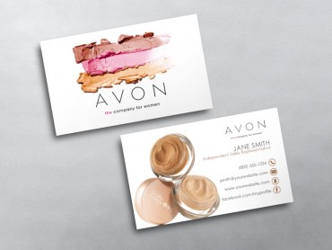 Avon business cards free shipping avon business card 08 fbccfo Images