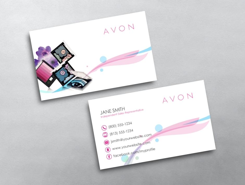 avon business card 13. Black Bedroom Furniture Sets. Home Design Ideas
