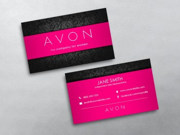 Avon Business Cards Free Shipping